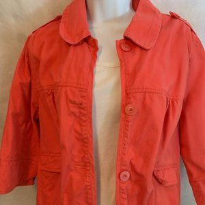 French Cuff 1X Apricot Spring Jacket